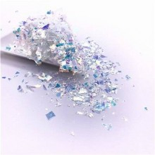 Glitter Flakes Escamas de Sirena Blanca Espejo