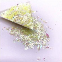 Glitter Flakes Escamas de Sirena Amarilla