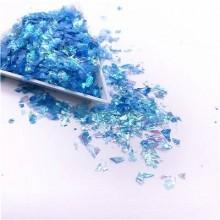Glitter Flakes Escamas de Sirena Azul Claro