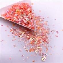 Glitter Flakes Escamas de Sirena Naranja