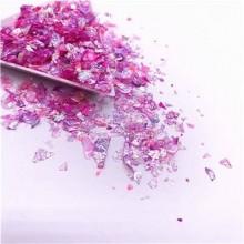 Glitter Flakes Escamas de Sirena Rosa Neon