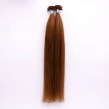 Extensiones de Queratina 100 gramos. Color 6 Castaño Claro Largo 43cm.