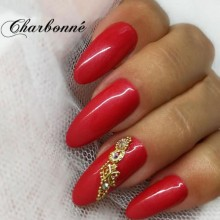 Esmalte Permanente 7ml. Rojo Caramelo Perlado (4)