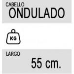 Extensiones de Queratina Ondulada de Pelo Natural – 55cm