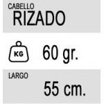 20 Tiras (60 gramos) de Extensiones Adhesivas Rizadas de Pelo 100% Natural calidad Remy de 55cm de Largo