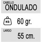20 Tiras (60 gramos) de Extensiones Adhesivas Onduladas de Pelo 100% Natural calidad Remy de 55cm de Largo